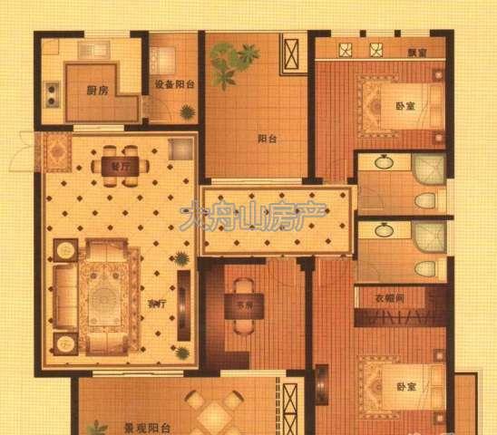 邸户型图,现代府邸户型结构,现代府邸 - 舟山大